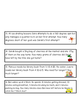 Conversion Word Problems