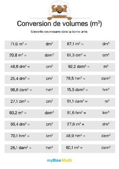 Conversion de volumes (m³) 5 -Convertir des mesures