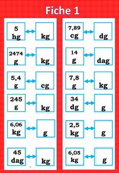Conversion mesure de masse et capacité