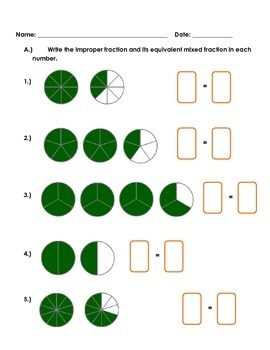 Conversion of Mixed Fractions to Improper Fractions and Vice-versa