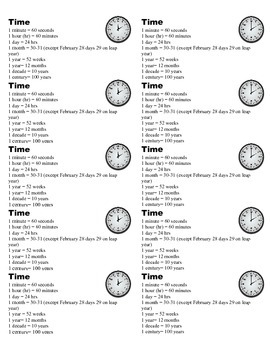 Conversion of Time Guide