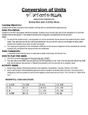 Conversion of Units Gr. 3 Game Puzzle with Worksheet