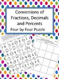 Conversions:  Fractions, Decimals and Percents