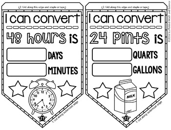 Measurement Conversions Math Pennant Activity