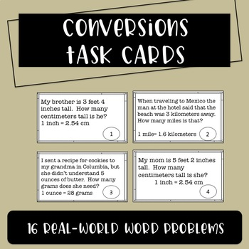 Conversions Task Cards