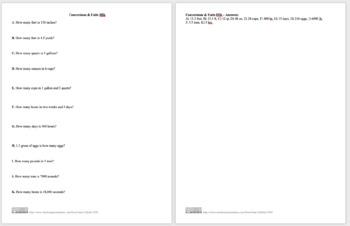 Conversions & Units IIIb