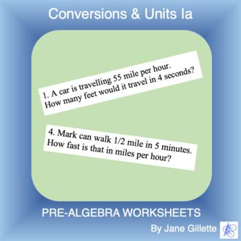 Conversions & Units Ia