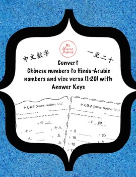 Convert Chinese numbers to Hindu-Arabic Numbers and vice versa (1-20)