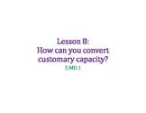 Convert Customary Capacity PowerPoint