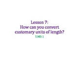 Convert Customary Units of Length PowerPoint