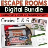Convert Customary Units of Measurement Escape Room Grades