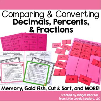 Compare and Convert Decimals, Percents, and Fractions Activities
