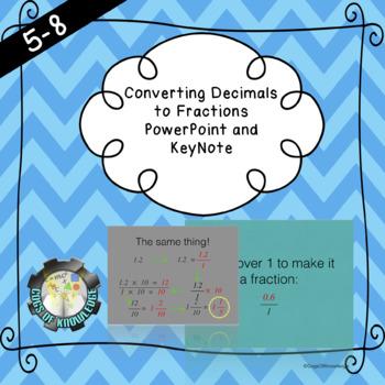 Convert Decimals to Fractions PowerPoint