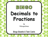 Convert Decimals to Fractions - BINGO and Task Cards