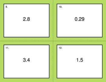 Convert Decimals to Fractions - BINGO and Task Cards