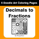 Convert Decimals to Fractions - Coloring Pages | Doodle Art Math