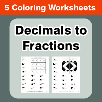 Convert Decimals to Fractions - Coloring Worksheets