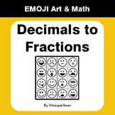 Convert Decimals to Fractions - Emoji Art & Math - Draw by Number Coloring Pages
