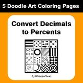 Convert Decimals to Percents - Coloring Pages | Doodle Art Math