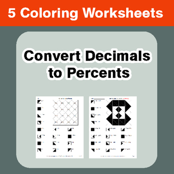 Convert Decimals to Percents - Coloring Worksheets