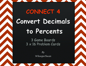 Convert Decimals to Percents - Connect 4 Game