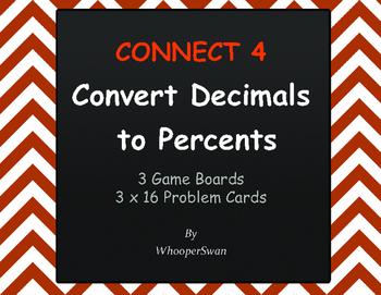 Convert Decimals to Percents - Connect 4 Game