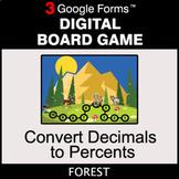 Convert Decimals to Percents - Digital Board Game   Google Forms