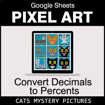 Convert Decimals to Percents - Google Sheets Pixel Art - Cats