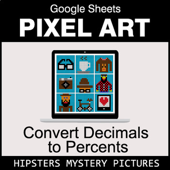 Convert Decimals to Percents - Google Sheets Pixel Art - Hipsters