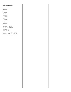 Convert Fraction Quantities to Percentage