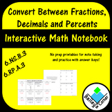 Convert Fractions, Decimals, and Percents