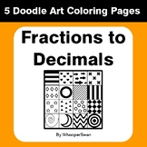 Convert Fractions to Decimals - Coloring Pages | Doodle Art Math