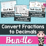 Convert Fractions to Decimals (Cowboy Method) Bundle
