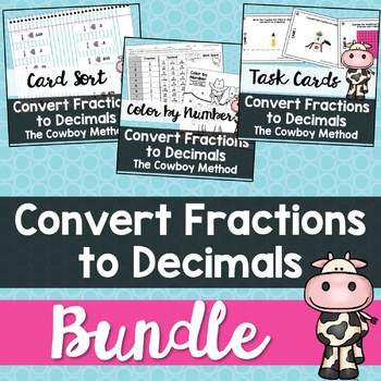 Convert Fractions to Decimals (Cowboy Method) Mini-Bundle
