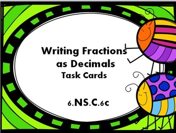 Convert Fractions to Decimals Task Cards