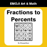 Convert Fractions to Percents - Emoji Art & Math - Draw by Number Coloring Pages