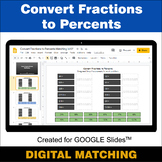 Convert Fractions to Percents - Google Slides - Distance L