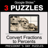 Convert Fractions to Percents - Google Slides - President'