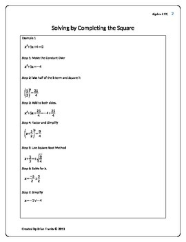 Convert Graphing Form or Vertex Form of a Quadratic