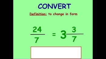 Convert Improper Fractions to Mixed Numbers