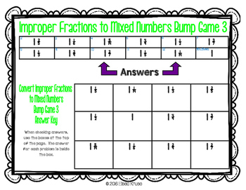 Adding with Improper Fractions and Mixed Numbers {4 Differentiated Games}