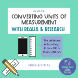 Convert Measurement Units  with Realia and Research