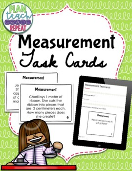 Convert Measurements in Word Problems Task Cards (5.MD.1 CCSS)