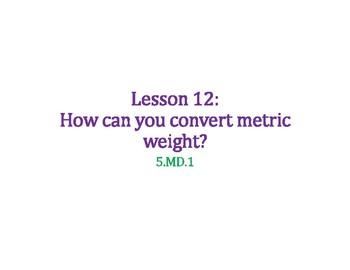 Convert Metric Weight PowerPoint