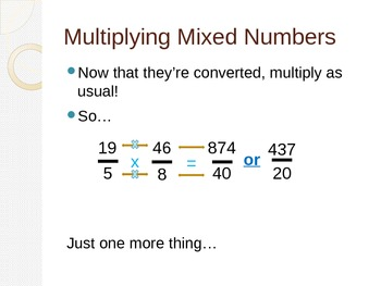 Convert Mixed Number to Improper Fraction