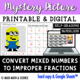 Convert Mixed Numbers to Improper Fractions: Math Mystery