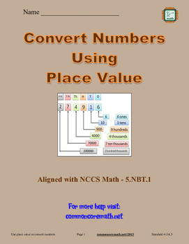 Convert Numbers Using Place Value - 5.NBT.1