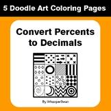 Convert Percents to Decimals - Coloring Pages | Doodle Art Math