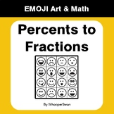 Convert Percents to Fractions - Emoji Art & Math - Draw by Number Coloring Pages