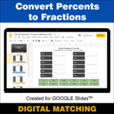 Convert Percents to Fractions - Google Slides - Distance L
